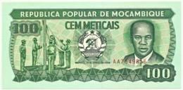 Mozambique - 100 Meticais - 16.06.1989 - P 130.c - Unc. - Serie AA - Mozambique