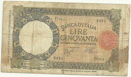50  Lire-- 10 Ottobre 1933 Xi Anno  Fascista- 2321    D313 - [ 1] …-1946: Königreich