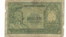 50  Lire-- 086396     0815 - 50 Lire