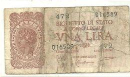 1 LIRE    20  MAGGIO 1935   N.874     472   014589 - [ 1] …-1946 : Regno