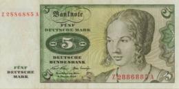 BRD Ro 269b 5 DM Serie Z...A 1970 Ersatznote Ef - [ 7] 1949-… : RFD - Rep. Fed. Duitsland