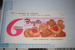 Buvard Biscuit Gondolo Brigitte De La Fantaisie En Biscuits, Assortiment - Caramelle & Dolci
