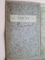 THUIN ( Morlanwelz / Beaumont ) Anno 1864/74 ( Kaart Op Katoen / Cotton ) Belgique ( L. Le Roy Bruxelles ) 1/20.000 ! - Europe