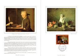""""""" RAISINS ET GRENAGES De CHARDIN """" Sur Encart 1er Jour N°té Sur Soie De 1997. N° YT 3105. FDC - Sonstige"""
