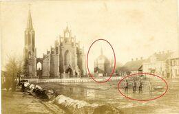 Litauen Lettland Rakischki Russische Kirche Synagoge ? Soldaten -guerre 14/18-WWI Carte  Photo Allemande - Russie