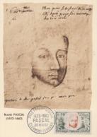Carte  Maximum  1er  Jour   FRANCE    Blaise   PASCAL    CLERMONT  FERRAND   1962 - 1960-69
