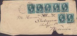 United States HENRY GREEN Patent Attorney NEW YORK 1870? Cover Brief SHEBOYGAN Wisconsin 3c. 5-Stripe Washington - 1847-99 Unionsausgaben