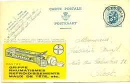 Publibel Nr. 13 - Aspirine Bayer - Cachet Ressaix 1934 - Stamped Stationery