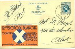 Publibel Nr 8 : Croix Blanche - Blauwe Achtergrond - Stamped Stationery
