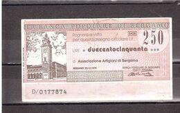 £250 BANCA POPOLARE DI BERGAMO - [10] Scheck Und Mini-Scheck
