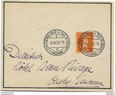 """244 - 1 - Petite Enveloppe Avec Oblit Spéciale """"Conférence Pour La Paix En Orient Lausanne 1922"""" - Marcophilie"""