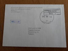 Lithuania Litauen Cover Sent From Sakiai To Pagegiai 2012 - Lithuania