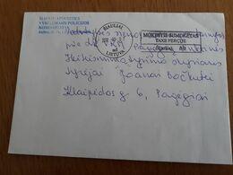 Lithuania Litauen Cover Sent From Siauliai To Pagegiai 2012 - Lithuania