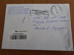 Lithuania Litauen Cover Sent From Jurbarkas To Pagegiai 2012 - Lithuania