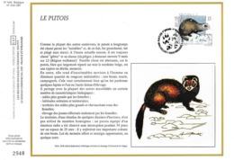 Feuillet Tirage Limité CEF 648 2477 Mammifère Le Putois - Panes