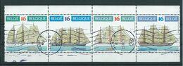 België OBP Nr. 2608 - 2611 Gestempeld / Oblitérés - Zeilschepen - Strook Van 4 - Belgique
