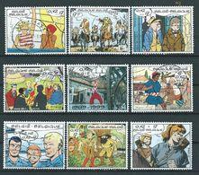 België OBP Nr. 2841 - 2849 Gestempeld / Oblitérés - Stripzegels - Zie Tanding Nr: 2845 - Belgique