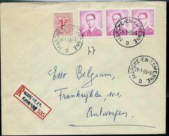 Doc. De MARCHE - EN - FAMENNE - D - Du 21/01/66  En Rec. ( E ) - Postmark Collection