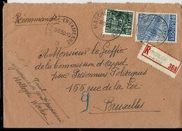 Doc. De MARCHE - EN - FAMENNE - D - Du 15/05/50  En Rec. ( E ) - Marcophilie