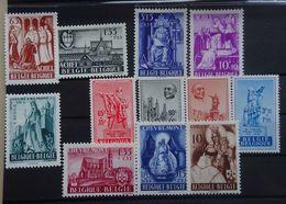 BELGIE 1948   Nr. 773 - 776 / 777 - 780 / 781 - 784     Spoor Van Scharnier *     CW  35,00 - Belgium
