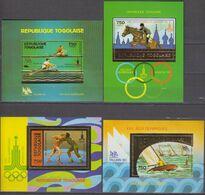 Togo 1980/81 Mi # Bl 155А-58А, Moscow Summer Olympics, MNH OG - Estate 1980: Mosca