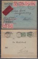 Dt.Reich Eilbrief Mit 6x 317A BP-o 22.10.23 Und Fernbrief 2x321A Vom 1.Tag Des Porto 1.11.23 - Germania