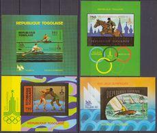 Togo 1980/81 IMPERF Mi # Bl 155А-58B, Moscow Summer Olympics, MNH OG - Estate 1980: Mosca