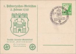 Ganzsache 1. Werbeschau 1938 Kdf Charlottenburg - Allemagne