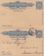 Bolivia/Bolivien: 1898 Post Card To Barmen/Germany - Bolivia