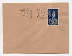 - Lettre Saint-Valery-sur-Somme 24.4.1943 - 2 F. + 12 F. Bleu Au Profil Du Secours National (Pétain) - - France
