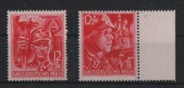THIRD REICH 1945 THE LAST STAMPS MICH 909** - 910** MNH. - Allemagne