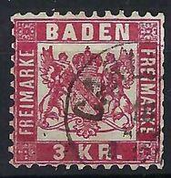 ALLEMAGNE Baden 1868: Le Y&T 24 Obl. CAD - Baden