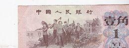 Billet De Banque Chine Zhongguo Renmin Yinhang - 1 Yi Jiao - 1962 / NEUF - China