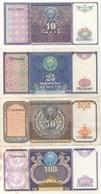 Ouzbékistan Uzbekistan : Série De 4 Billets 1994 : 10 + 25 + 50 + 100 Cym (UNC-UNC-Circulé-Bon) - Uzbekistan
