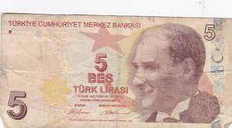 Turquie Turkey 5 Lira 14 Ocak 1970 - Turquie