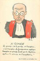 JUSTICE - MAGISTRAT - AVOCAT - MAÎTRE ESMEIN - 1943 - CPA ILLUSTRATEUR - Andere