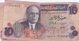 TUNISIE 10 DINAR 1973 - Tunisia