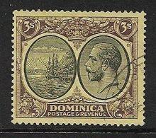 DOMINICA 1927 3s SG 86 WATERMARK MULTIPLE SCRIPT CA FINE USED Cat £16 - Dominique (...-1978)