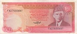 Pakistan : 100 Rupees 1981-82 Très Bon état (trous Agrafeuse) - Pakistan