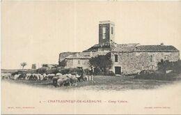 D84.  CHATEAUNEUF DE GADAGNE. CAMP CABERE. TROUPEAU DE MOUTONS - France