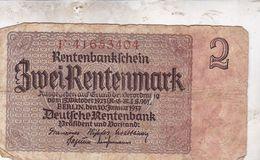 2 RENTENMARK 1937 - Sonstige