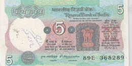 5 Rupees - Inde - TTB - - India