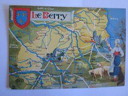 Cartes Géographiques Carte Département Le Berry Bourges Chateauroux - Landkarten