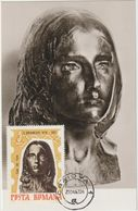 Carte-Maximum ROUMANIE  N° Yvert  2292 (BRANCUSI - Tête De Femme)  Obl Sp 1967 - Beeldhouwkunst