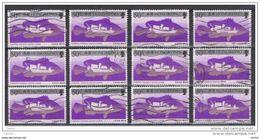 HONG-KONG:  1986  BARCA  DA  PESCA  -  50 C. POLICROMO + ARGENTO  US. -  RIPETUTO  12  VOLTE  -  YV/TELL. 483 - Hong Kong (...-1997)