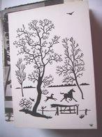 Nederland Holland Pays Bas Westerbork Knipkunst Paarden In De Wei - Niederlande