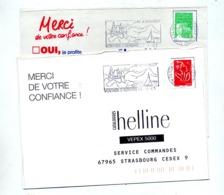 Lettre Flamme Menthon Saint Bernard Lac Chateau - Marcophilie (Lettres)