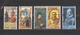 COB 3471 / 3475 Oblitérés Série Complète Cachets Ronds Les Polyphonistes De La Renaissance - Belgium