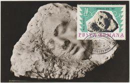 Carte-Maximum ROUMANIE  N° Yvert 2293 (BRANCUSI - Muse Endormie)  Obl Sp Ill 1er Jour 1967 - Beeldhouwkunst