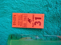 Ticket = Course Hippique - Equitation